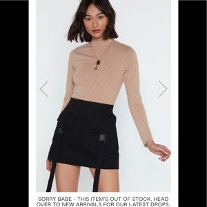 Nasty Gal Knitted Crew Neck Top